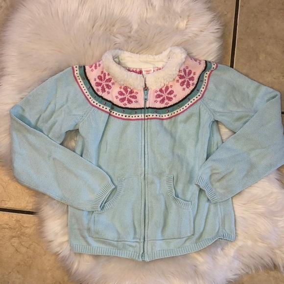 7050ba9de28 Gymboree Zip Front Fair Isle Sweater 10